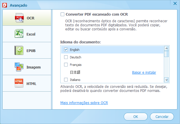 Converter pdf ocr