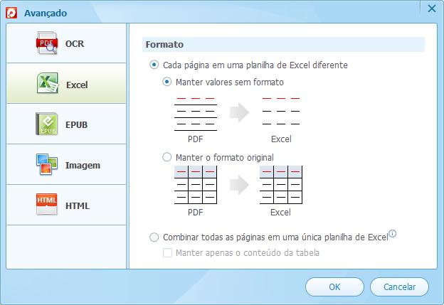 Converter pdf para excel