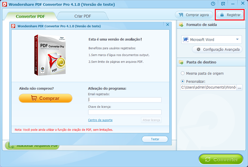 Registar pdf converter pro