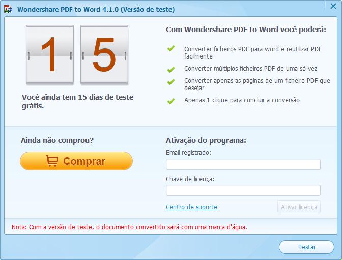 Activar pdf to word para windows