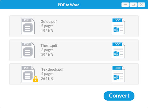 Converter pdf para word no Windows