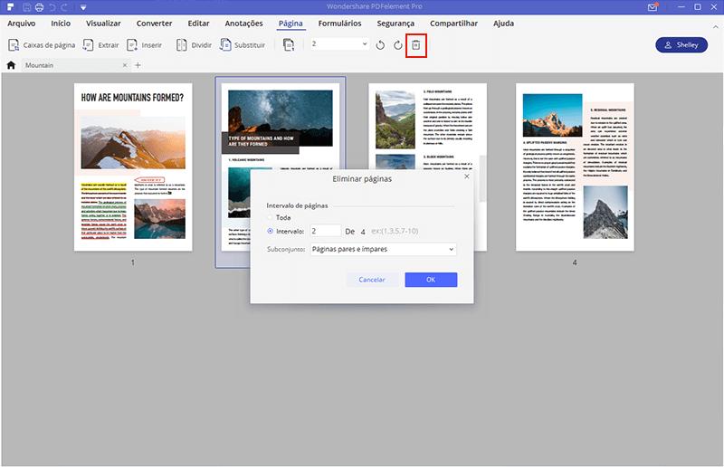excluir páginas pdf