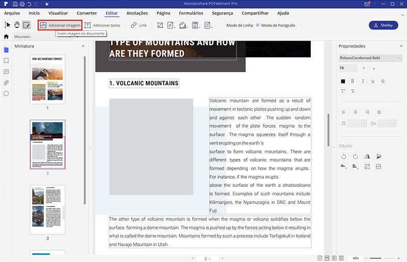 editar uma imagem num pdf