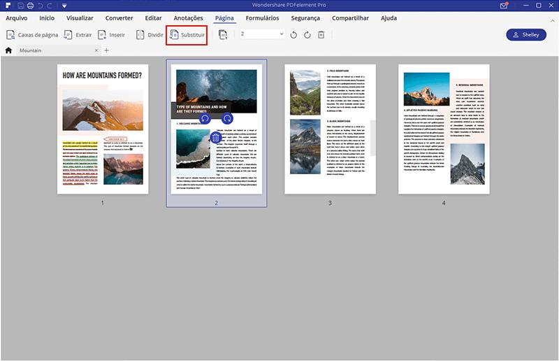 editar páginas em pdf