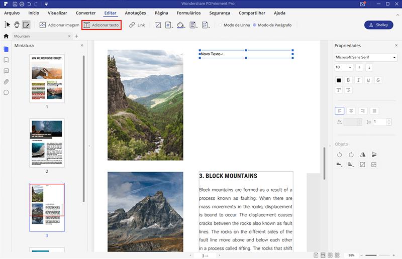 editor de texto de pdf