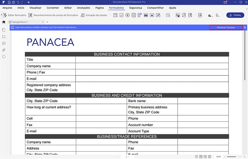 como fazer um formulário pdf preenchível