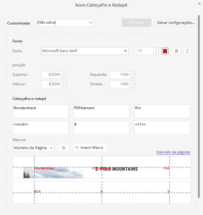 cabeçalho de arquivo pdf
