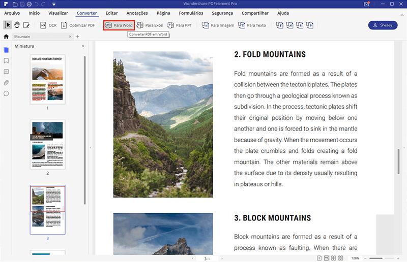 adicionar pdf imagem para word