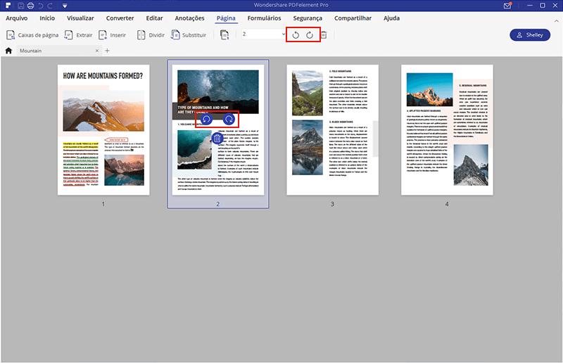 mudar orientação PDF