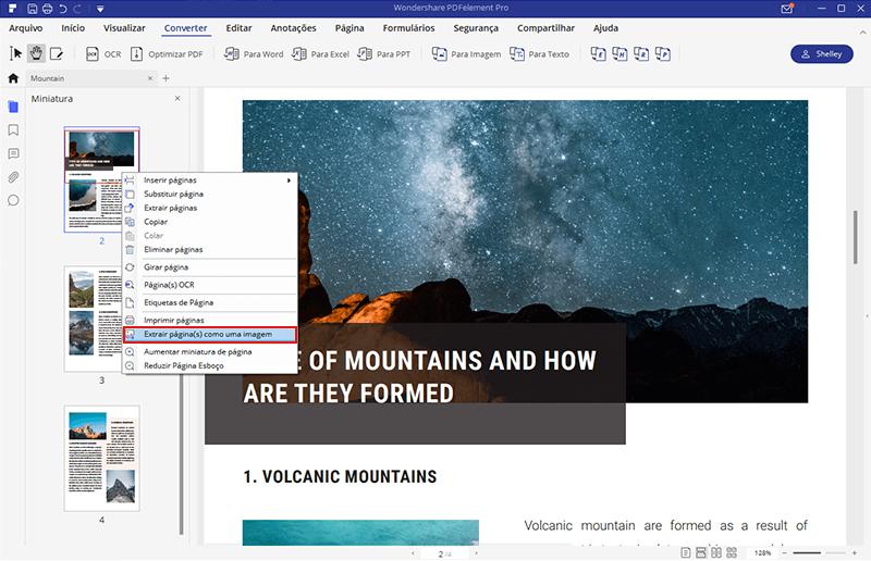 Incorporar pdf em Word