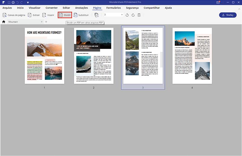 páginas separadas em pdf no windows