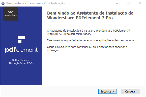 Instalar pdfelement em Windows