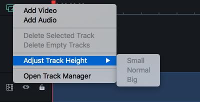 Filmora 9 for Mac Track Manager