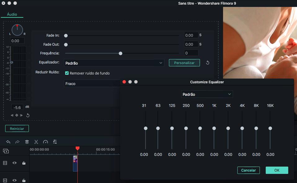 Filmora9 for Mac  Audio Equalizer