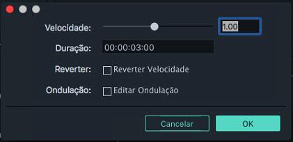 Filmora 9 para Mac Aterar Velocidade do Vídeo