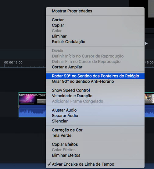 Filmora 9 for Mac rotate videos