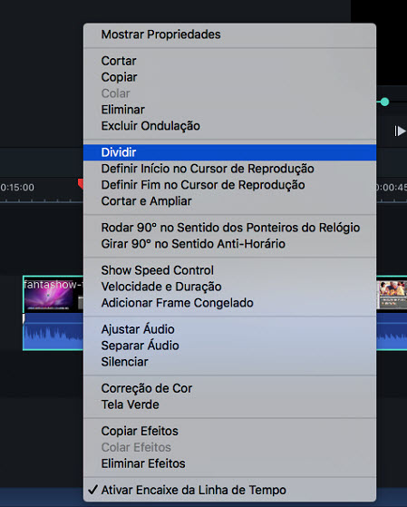 Filmora9 for Mac Split video