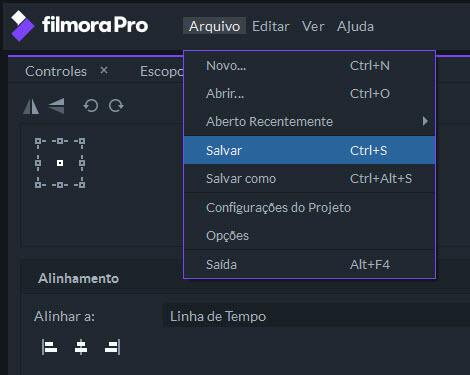 filmorapro exportar vídeo
