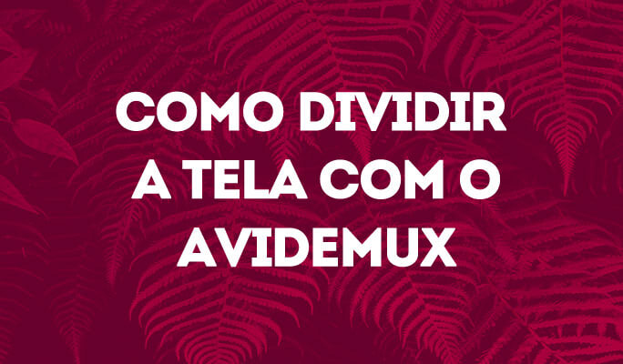 Como Dividir a Tela com o Avidemux