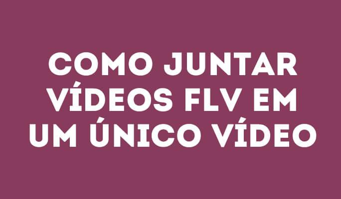 Como juntar vídeos FLV em um único vídeo