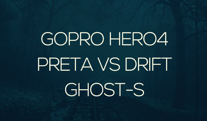 GoPro Hero4 Preta VS Drift Ghost-S