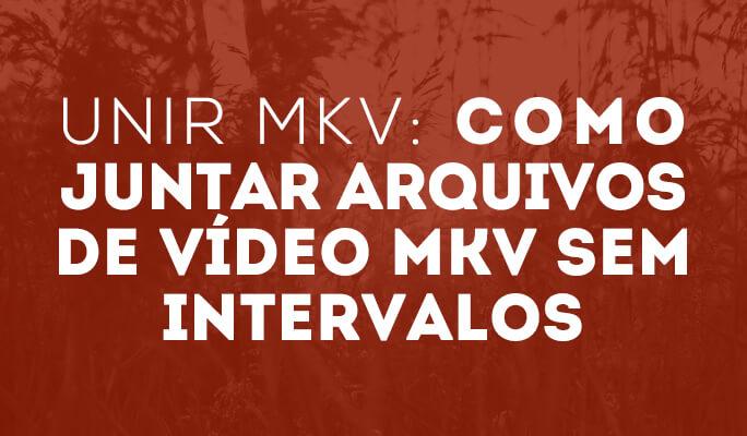 Unir MKV: Como juntar arquivos de vídeo MKV sem intervalos