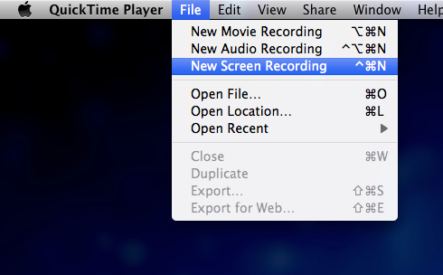 Quicktime-Screen-Recording