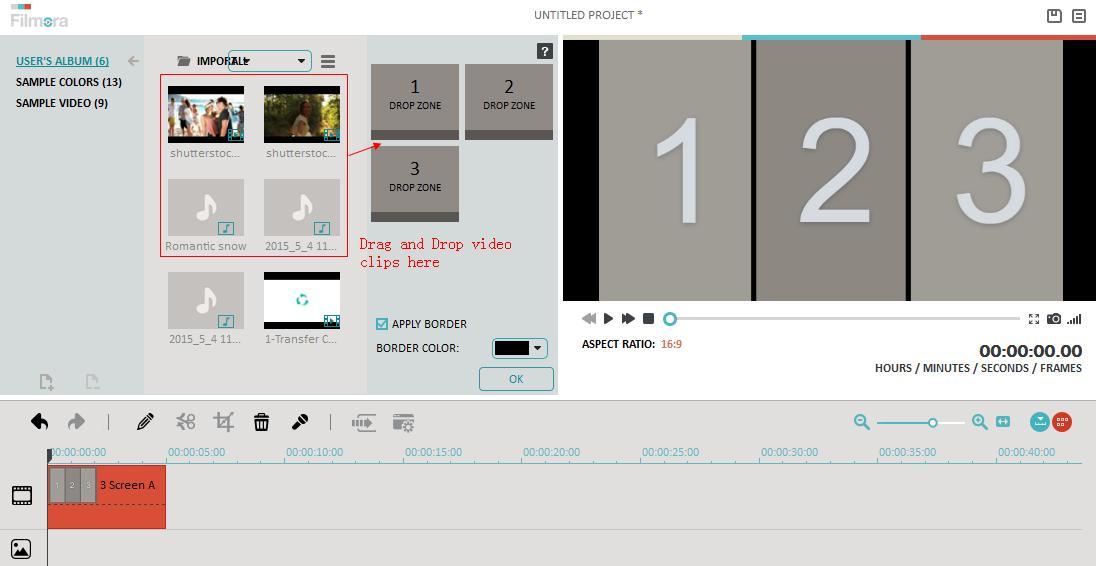 add video by side