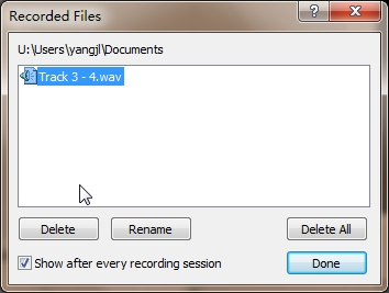 restart your recording process again