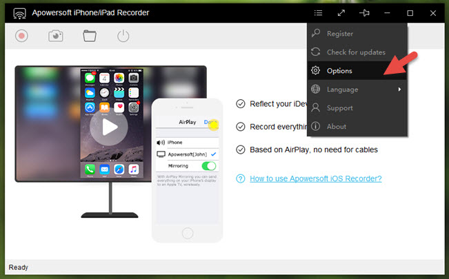 apowersoft-iphone-recorder-facebook-live-options