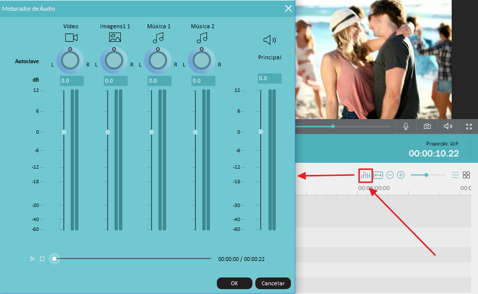 Mix audio track to improve sound quality