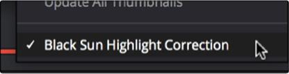 black sun highlight correction