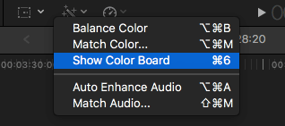 "Show Color Board""."