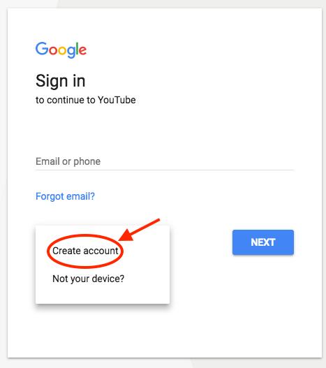 como criar um canal do YouTube