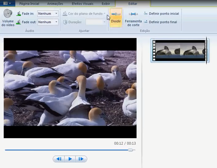 dividir windows live movie maker
