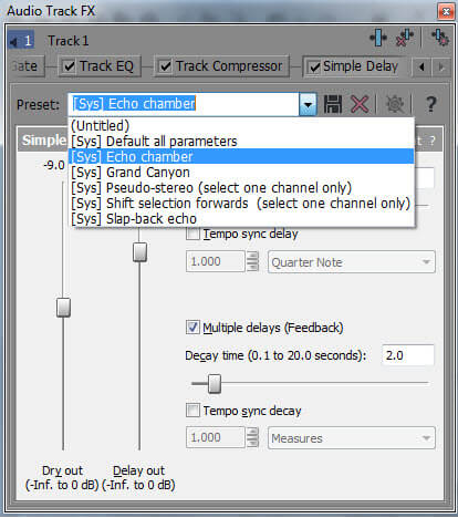 audio preset templates
