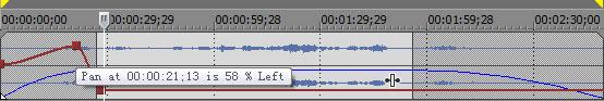 Adjust audio pan
