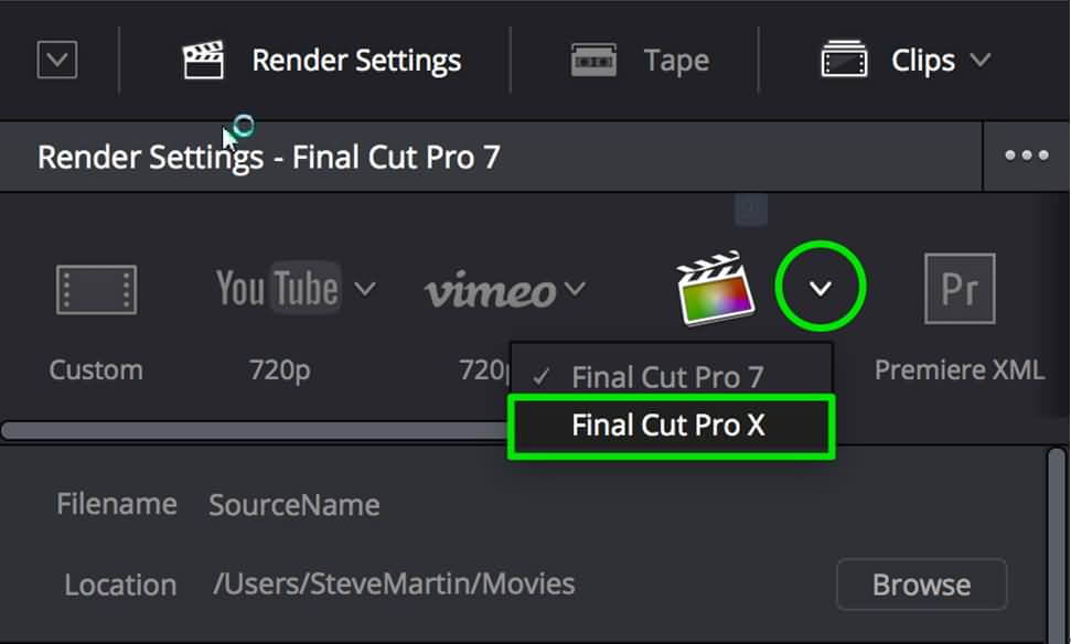 export xml from resolve