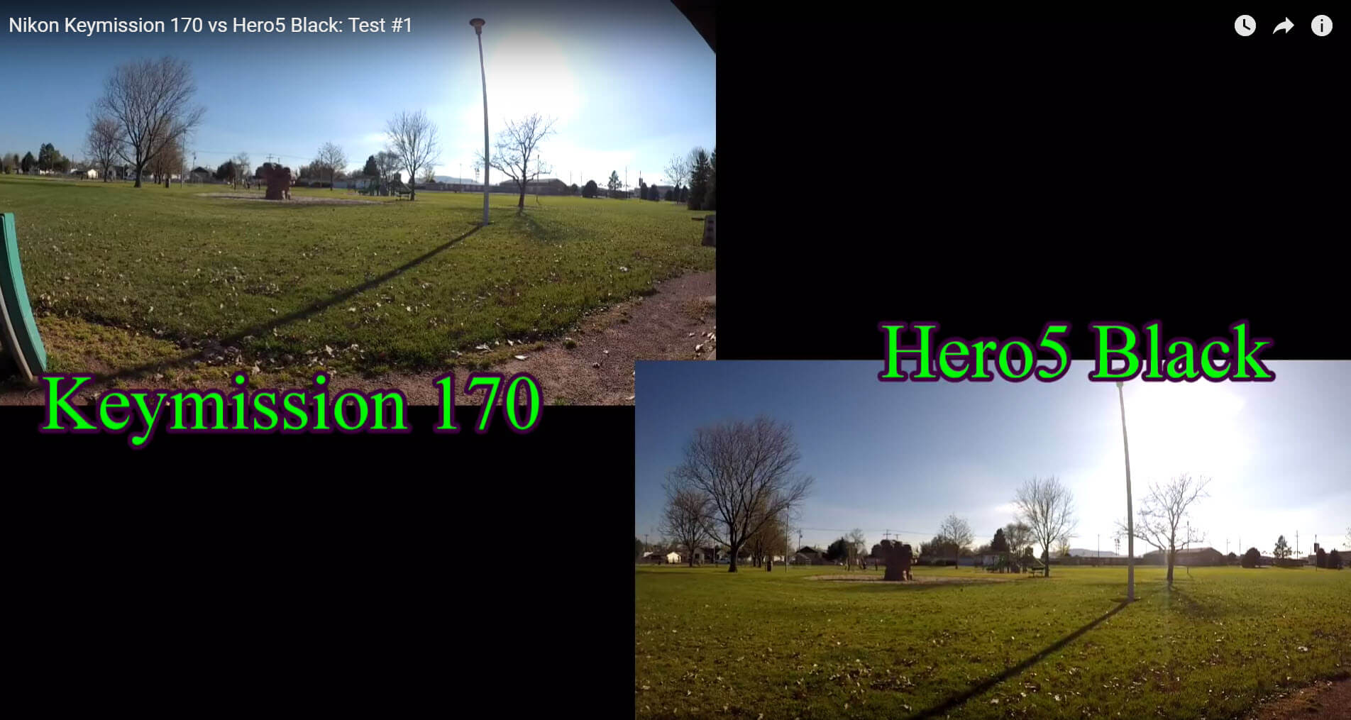 hero5 balck keymission170 fov