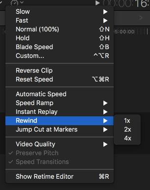 Rewind Videos using Final Cut Pro -1