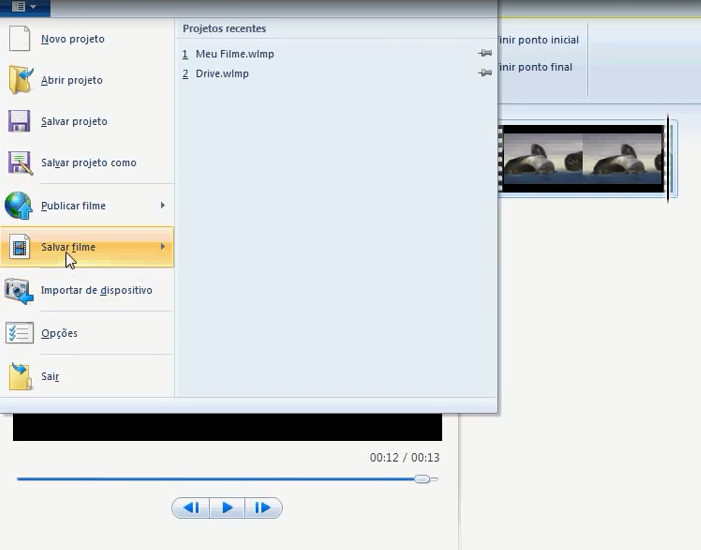 dividir vídeos no windows live movie maker