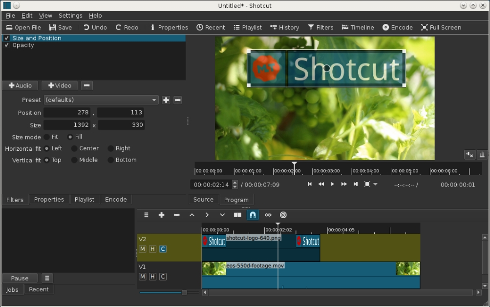 shotcut video editor