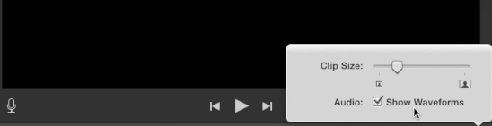 Show Audio Waveforms -iMovie