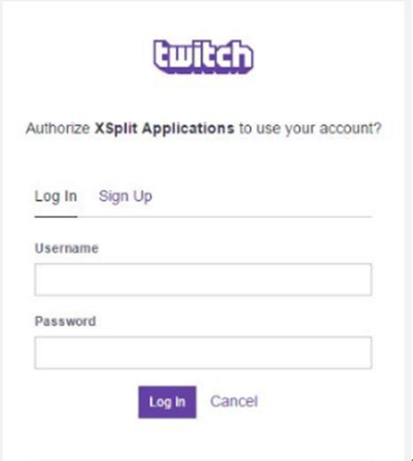 Twitch username