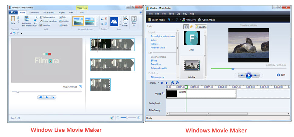 Nova Interface do Windows Live Movie Maker