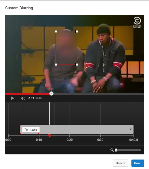 YouTube Costum Blurring