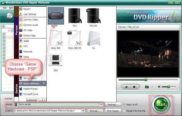 convert DVD to PSP