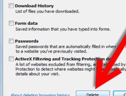 deletar seu histórico de navegação e do Google Chrome