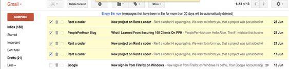Como recuperar emails excluídos