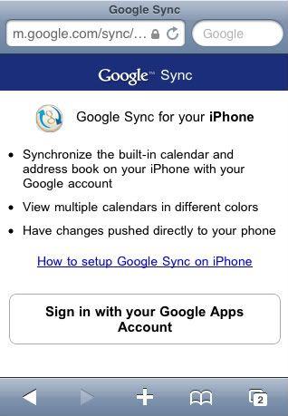 sync iPhone calendars
